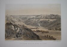 ISRAEL - JERUSALEM FROM THE MOUNT OF OLIVES BY DAVID ROBERTS, C.1880.