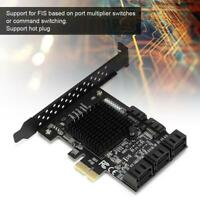 AU PCI-E PCI Express to SATA 3.0 8 Port Expansion Controller Card Adapter 6Gbps