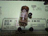 Röhre Telefunken ECC 81 Tube 9/8 mA Raute 30° auf Funke W19 geprüft BL-1883