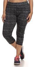 Lale Yoga Plus Size Women's Capri Yoga Pants 3X