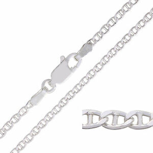 925 Sterling Silver MARINA Chain Necklace 2mm NEW