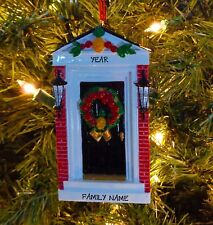 Colonial Front Door w/ Pineapple - Our 1st Home Personalized Christmas Ornament