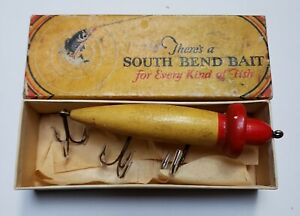 Nice South Bend #923 Standard Woodpecker Luminous Red Head In Correct Box 1920s