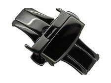 Black stainless steel butterfly deployment clasp 16mm