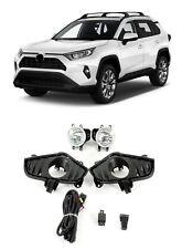 For 2019 2020 Toyota RAV4 Rav 4 Front Bumper Fog Lights Lamp Wires Switch