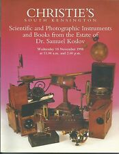 CHRISTIE'S SCIENTIFIC PHOTO Instrument CAMERA MICROSCOPE Koslov Coll Catalog1998