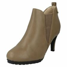 High (3 in. and Up) Slip On Slim Heel Casual Boots for Women