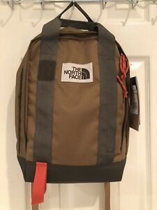 NWT The North Face Khaki Green Tote Pack Backpack $55 Tablet Sleeve
