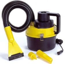 Koolatron 12V Wet/Dry Cannister VacBlack/Yellow 401572 Vacuum Cleaner New