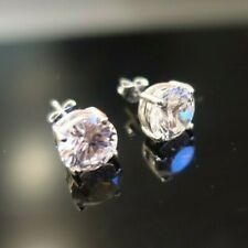 (BRAND NEW) Cubic Zirconia Solitaire Earrings - £40 - Solid Sterling Silver