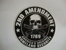 2 HOMELAND SECURITY  STICKERS  90mm  USA BADGES  MILITARY UNITED STATES