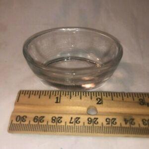 Plain Oval Glass Open Salt Master Cellar Dip