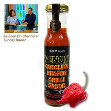 Chilli Sauce - Venom Carolina Reaper Superhot Sauce - NEW Large 250ml