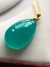 Natural amazonite Tianhestone  Crystal Lady Pendant 925Silver plated gold chain