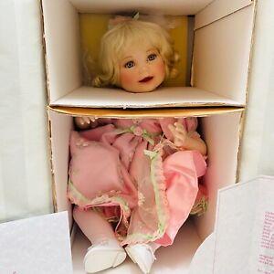 Marie Osmond Queen ElizabethPorcelain Doll Coming Up Roses Sonja Bryer NIB COA