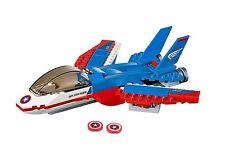 LEGO CAPTAIN AMERICA'S JET NO MINIFIGURES/BOX Super Heroes Pursuit Plane 76076