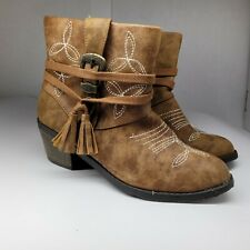 New listing Youth Steve Madden Cowgirl Boot Brown Leather Size 4