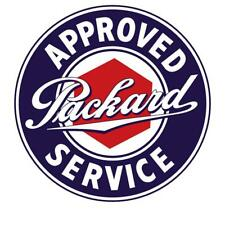 Vintage Style Metal Sign Packard Approved Service 14 x 14