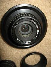 Rare Antique Vintage Nikon Camera Lens El-Nikkor 80Mm 1:5.6 Made In Japan