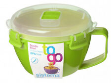 Sistema Green Klip It Microwave Noodle Pasta Soup Bowl 940ml Lunch BPA Free