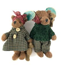 Vtg Bearington Collection Family Miniature Mama Papa Babies Tags Euc