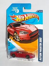 Hot Wheels 2012 Faster Than Ever Series 9/10 Aston Martin DBS Burgundy w/ FTE2s