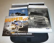 2015 FORD F SUPER DUTY OWNERS MANUAL SET 15 GUIDE F250 F350 w/case DIESEL
