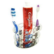 BeGrit Stainless Steel Toothbrush Holder Stand for Bathroom Vanity Countertops