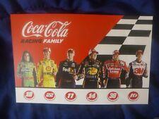 "2013 DANICA, LOGANO, HAMLIN, STEWART, NEWMAN, BIFFLE ""COCA-COLA RACING"" POSTCARD"