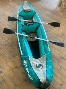 SEVYLOR MADISON 2 MAN SEAT 2020 INFLATABLE KAYAK GREEN WATERSPORTS OARS PUMP