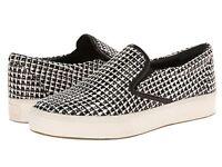 Belle by Sigerson Morrison Saras 3 Flat Sneakers, White/Black Tweed SZ 9 (sh)