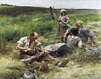 Haymaking by French Léon Augustin Lhermitte. Life Repro choose Canvas or Paper