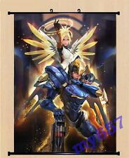 Game Overwatch OW Mercy Pharah Poster Wall Scroll Cosplay Home Decor GIft