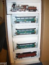 HO BACHMANN 4-4-0  OLD TIME LOCOMOTIVE & 4 CARS BALTIMORE & OHIO #RR370