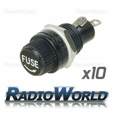 10 x Chasis / Montaje En Panel Portafusibles Para 5x20mm Tubo De Vidrio fuses10a 250v