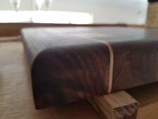 Walnut and maple butcher block end grain chopping baord hand made