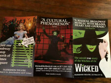 WICKED  Broadway mini ad/flyer Broadway Oz musical  theater NYC