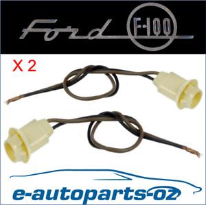 2 x Ford F100 F Series Guard Indicator Light Socket Globe Holder Plug 75-86