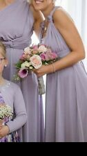 Debenhams Size 8 Bridesmaid Dress Lilac Shimmer Two Birds Style Worn Once Weddin