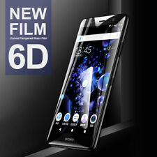 6D Curved Edge Tempered Glass For Sony Xperia XA1 XA2 XZ1 Screen Protector Film