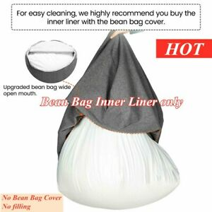 Large Inner Liner For Bean Bag Chair Cover Easy Cleaning Sofa Seat Adults Kids U