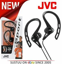 JVC HAECX20B Sports Running Sweat Proof Pivot Motion Fit Stereo Earphones - NEW