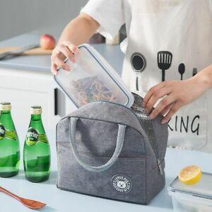 Fresh Cooler Bag Nylon Zipper Oxford Lunch Bags Women Convenient Tote Food Bag