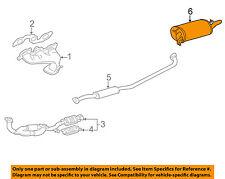 TOYOTA OEM 00-01 Camry 3.0L-V6-Muffler 1743020042