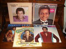 Charley Pride-5-Country-Record Album LP Lot