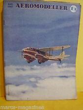 RARE AEROMODELLER AUGUST 1947   MODEL AIRCRAFT C RUPERT MOORE