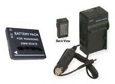 Battery + Charger for Panasonic DMCFH27R DMCFH27S DMCFS18 DMC-FH25A DMC-FH25K