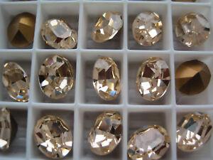 72 Swarovski Crystal Oval Rhinestones 10x8 Light Peach 4100 PRETTY CORAL COLOR!!