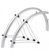 "SKS Bluemels 42 mm 700 x 25-35 C/28"" bici bicicletta completa PARAFANGO PARAFANGHI ARGENTO"