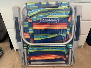 New Tommy Bahama Adult Backpack Beach Chair Lounge 5 Position Portable Foldable